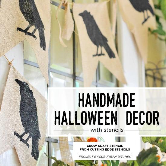 handmade halloween decor with stencils stencil stories
