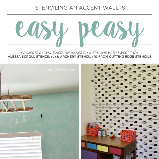Stenciling An Accent Wall Is Easy Peasy « Stencil Stories