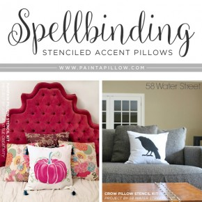 Spellbinding Stenciled Accent Pillows