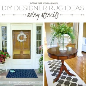 Cutting Edge Stencils shares DIY stenciled floor covering ideas like rugs, floorcloths, and runners using stencils. http://www.cuttingedgestencils.com/tuscan-trellis-allover-stencil.html