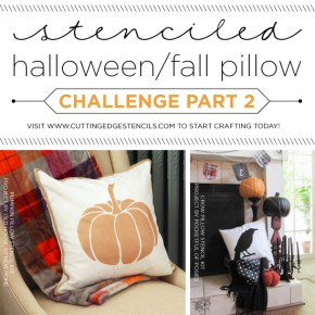 Cutting Edge Stencils shares DIY stenciled accent pillow ideas using Halloween and Fall themed stencils. http://www.cuttingedgestencils.com/accent-pillow-stencil-kits.html