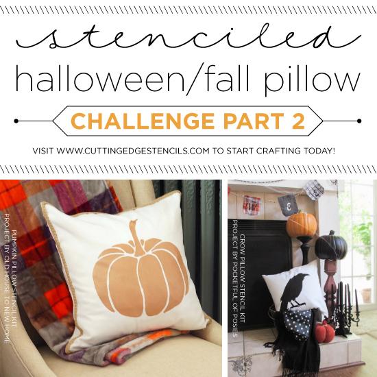 stenciled halloween/fall pillow challenge part ii Diy Fall Throw Pillows