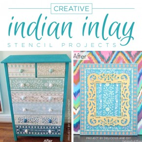 Creative Indian Inlay Stencil Projects