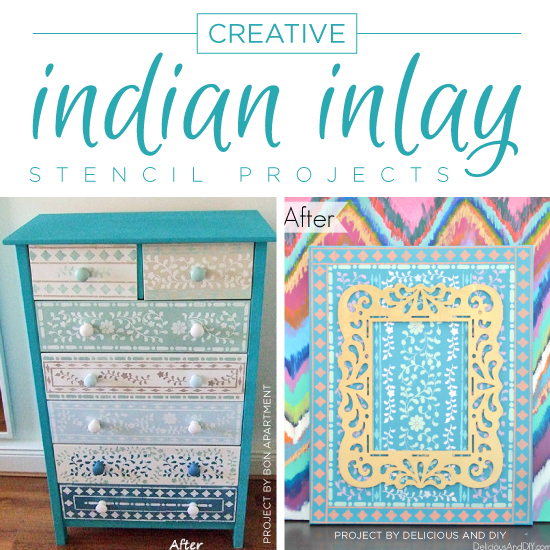 Creative Indian Inlay Stencil Projects Stencil Stories
