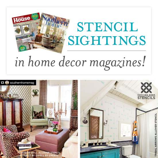 Decor Magazines stencil sightings in home decor magazines! « stencil stories