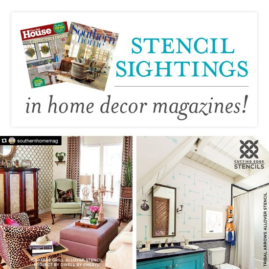 Decor Magazines stencil sightings in home decor magazines! « stencil stories