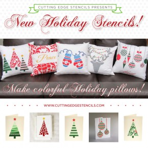 Cutting Edge Stencils Presents New Holiday Stencils!
