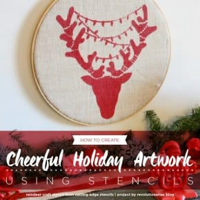 Cutting Edge Stencils shares DIY stenciled Christmas decor using a new Holiday Stencil, the Reindeer Craft pattern. http://www.cuttingedgestencils.com/reindeer-holiday-stencil-designs-for-diy-crafts.html