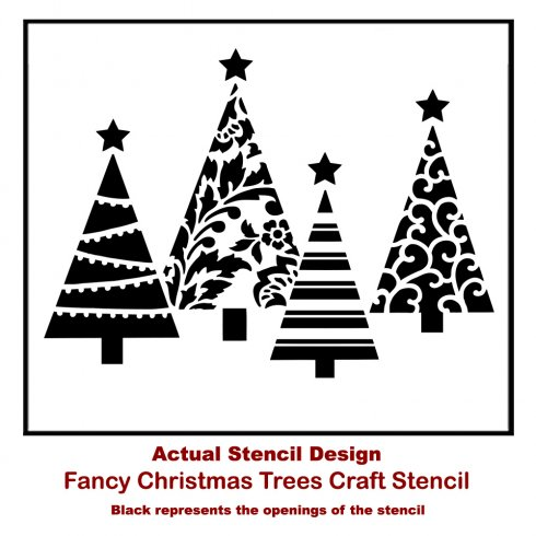 Stenciling Quick and Easy Christmas Wall Decor