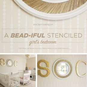 A Girl's Bead-iful Stenciled Bedroom