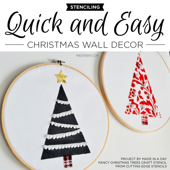 Stenciling Quick And Easy Christmas Wall Decor   Stencil Stories Stencil  Stories