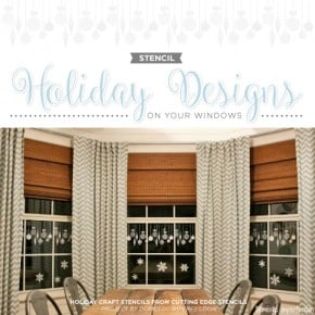 Stencil Holiday Designs On Your Windows
