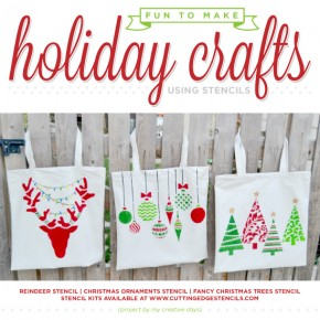 Fun To Make Holiday Crafts Using Stencils