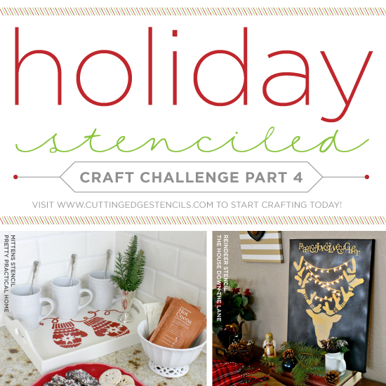 Easy Holiday Decorating Ideas Using Stencils   Stencil Stories Stencil  Stories