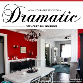 How to Wow Your Guests With a Dramatic Stenciled Dining Room