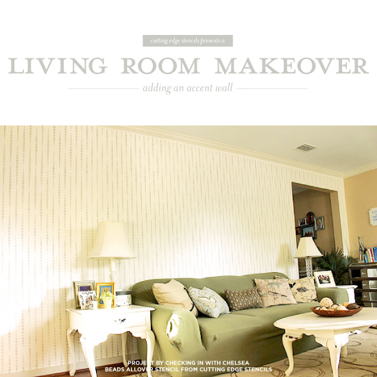 stencils for living room walls living room makeover adding an accent wall 22091
