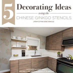 Cutting Edge Stencils shares DIY room and home decor ideas using the Chinese Ginkgo Stencil. http://www.cuttingedgestencils.com/ginkgo-stencil-kim-myles.html