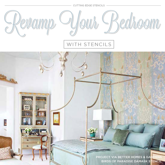 Revamp Your Bedroom With Stencils on decorative ceiling ideas, ceiling remodeling ideas, kitchen decorating ideas, ceiling design ideas, living room designs decorating ideas, low ceiling bedroom ideas, wall decorating ideas, crazy bathroom decorating ideas, bedroom chandeliers for low ceilings, bedroom ceiling lighting ideas,