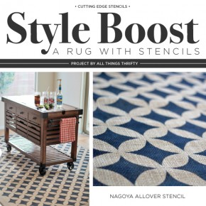 Style Boost a Rug With Stencils
