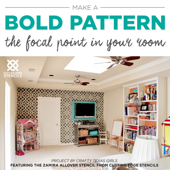 Make A Bold Pattern The Focal Point In Your Room « Stencil Stories