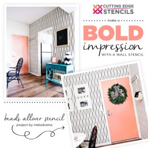 Cutting Edge Stencils shares how to stencil the Beads Allover Stencil for a wallpaper look in an entryway. http://www.cuttingedgestencils.com/beads-wall-stencil-pattern.html