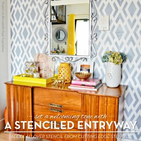 Set A Welcoming Tone With A Stenciled Entryway