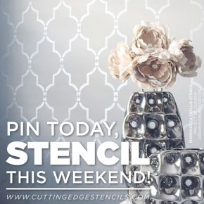 Cutting Edge Stencils shares pin-worthy DIY stenciled home decor projects. http://www.cuttingedgestencils.com/wall-stencils-stencil-designs.html