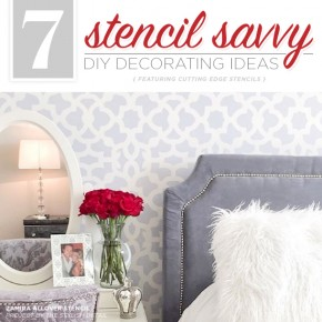 Cutting Edge Stencils shares DIY home decorating ideas using wall stencil patterns. http://www.cuttingedgestencils.com/wall-stencils-stencil-designs.html