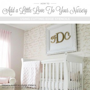 How To Add A Little Love To Your Nursery Using Stencils