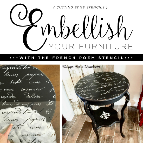 cutting edge furniture. Embellish Your Furniture With The French Poem Stencil - Stories Cutting Edge