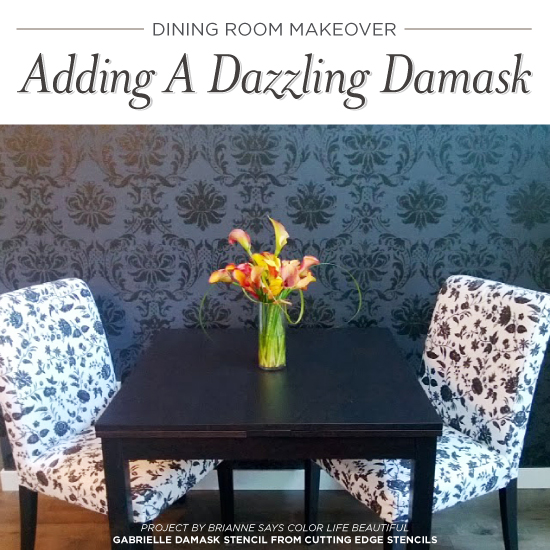 Dining Room Makeover Adding A Dazzling Damask