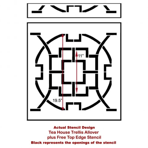 The Tea House Trellis Allover Stencil by Cutting Edge Stencils. http://www.cuttingedgestencils.com/tea-house-trellis-allover-stencil-pattern.html