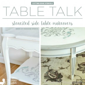 Table Talk: Stenciled Side Table Makeovers