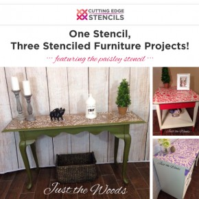 Cutting Edge Stencils shares DIY furniture makeovers using the Paisley Craft Stencil. http://www.cuttingedgestencils.com/paisley-pattern-craft-stencils-for-home-decor-projects.html
