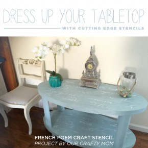 Dress Up Your Tabletop With A Stencil