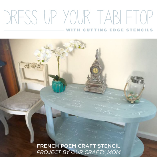 Benjamin Moore Starts A Trend With Stenciled Kitchen: Dress Up Your Tabletop With A Stencil