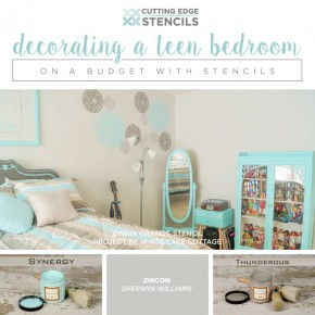 Decorating a Teen Bedroom on A Budget With Stencils