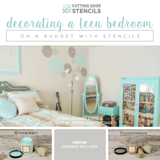 Decorating a teen bedroom on a budget with stencils - Teenage girl bedroom ideas on a budget ...