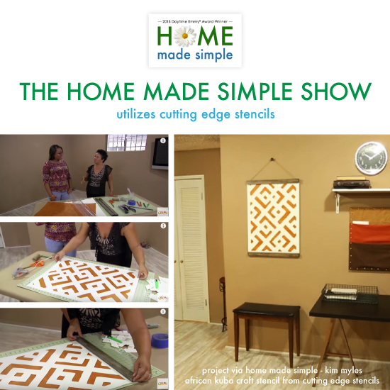 The Home Made Simple Show Utilizes Stencils - Stencil Stories ...
