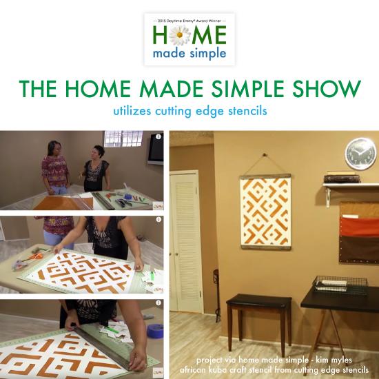 The Home Made Simple Show Utilizes Stencils