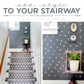 Add Style To Your Stairway With Stencils