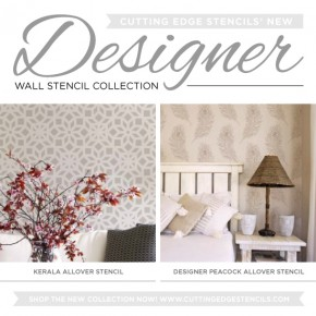 New Designer Wall Stencil Collection