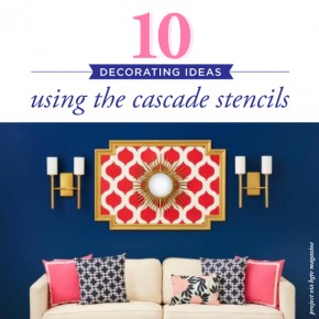 Cutting Edge Stencils shares ten DIY home decorating ideas using the Moroccan Cascade Stencil patterns. http://www.cuttingedgestencils.com/cascade-allover-stencil-pattern.html