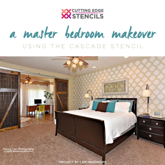 Benjamin Moore Starts A Trend With Stenciled Kitchen: A Master Bedroom Makeover Using The Cascade Stencil