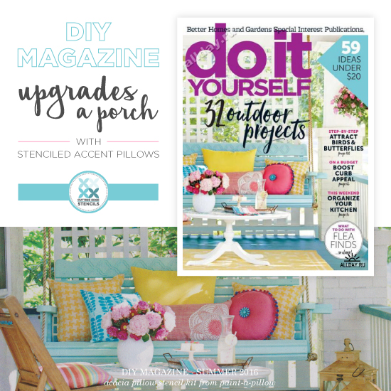 Diy magazine elevates a porch with stenciled accent pillows solutioingenieria Image collections