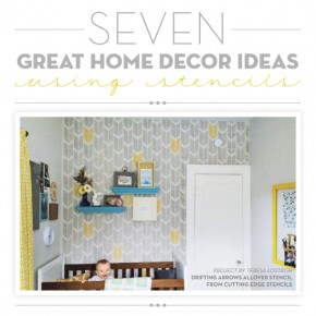 7 Great Home Decor Ideas Using Stencils