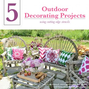 Cutting Edge Stencils shares DIY outdoor decorating ideas for decks and patios using stencil patterns. http://www.cuttingedgestencils.com/wall-stencils-stencil-designs.html