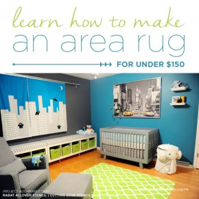 Learn How To Make An Area Rug For Under $150