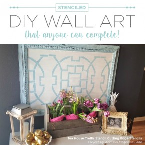 Stenciled DIY Wall Art That Anyone Can Complete!