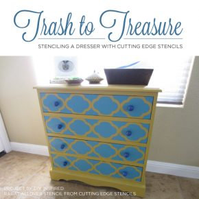 Cutting Edge Stencils shares two stenciled dresser makeover using paint and furniture stencils. http://www.cuttingedgestencils.com/craft-stencils-furniture-stencils.html